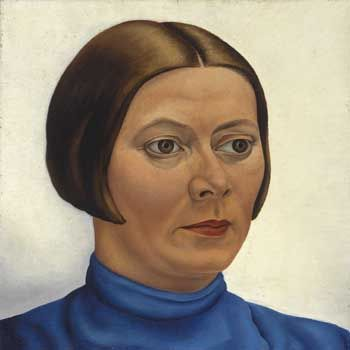 Edgar Fernhout (Dutch, 1912-1974), Portrait of Charley Toorop, 1932. Collection Scheringa Museum of Realist Art in Spanbroek, Netherlands. Fernhout, the son of Charley Toorop, began painting realistically. Although both painted portraits and still lifes, the social conscience in his mother's work are missing in Fernhout's paintings. After the death of his mother his work became completely abstract.