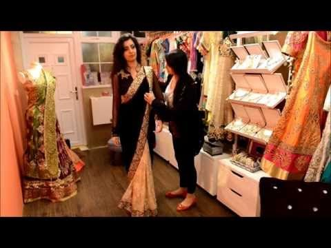 In this video we show you how to wear a saree! To view the full collection go to www.OfficialNoreenKhan.com follow me on Instagram- DJNoreenKhan If you're in...