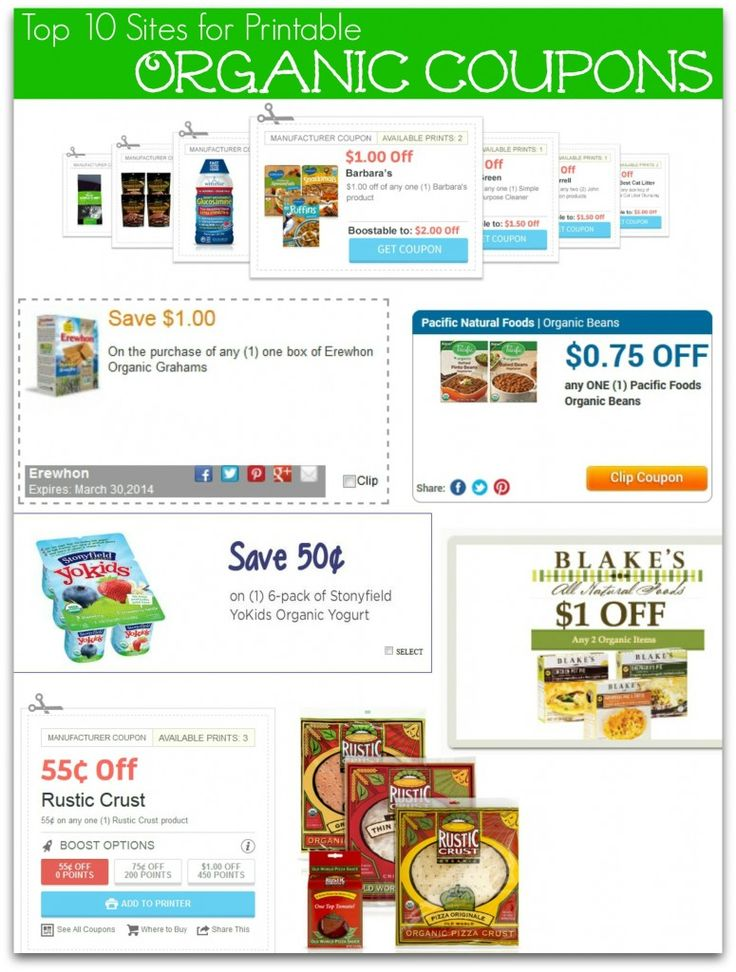 If you love to shop organic, be sure to check out these Printable Organic Food Coupons resources where you can use to find organic coupons on your own before you head out to the store.