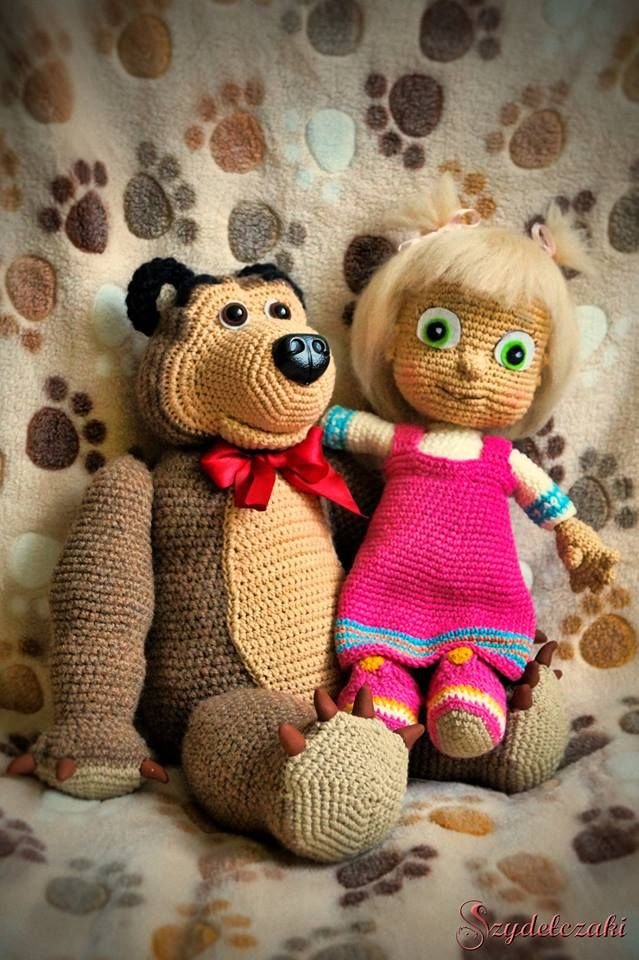 Masha and the bear crochet :)