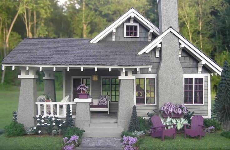 Avalon house adorable craftsman bungalow in miniature for Craftsman kit homes