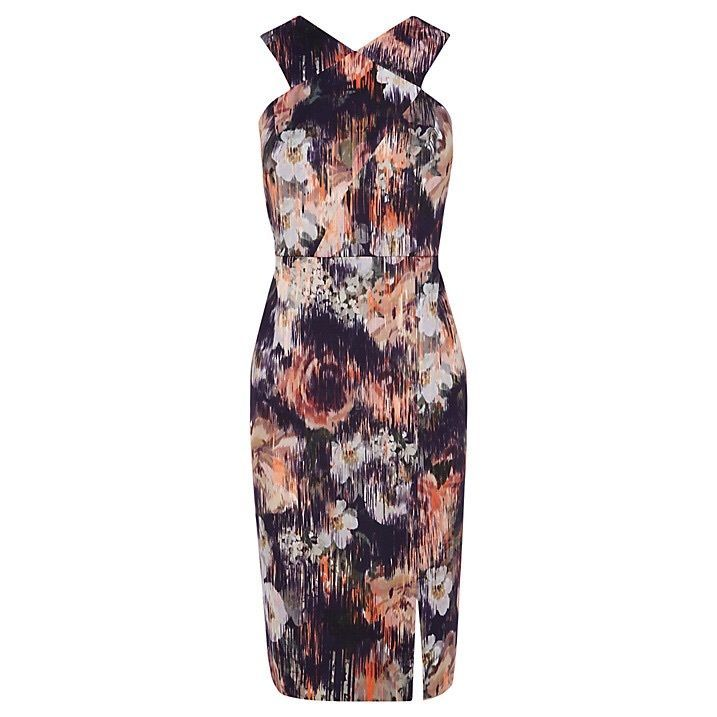NEW Coast Charley Orange Black Multi Floral Bodycon Pencil Dress RRP £115 in Clothes, Shoes & Accessories | eBay