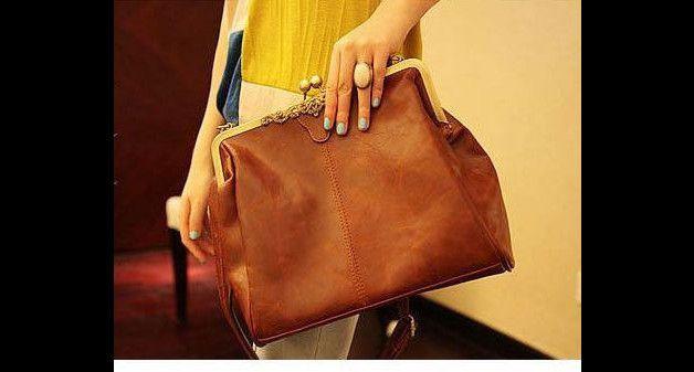 Ledertaschen - T22r VINTAGE Handtasche braun - ein Designerstück von Jaquisa bei DaWanda