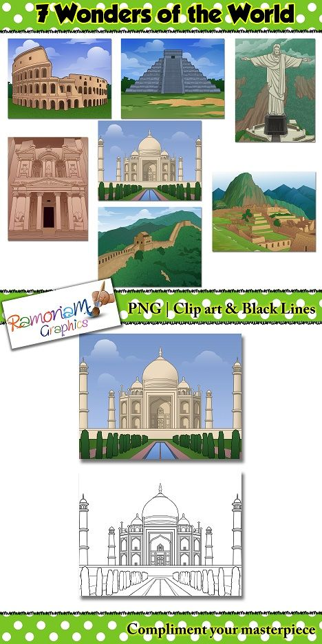 Scenes of the 7 Wonders of the world - great for social studies related projects
