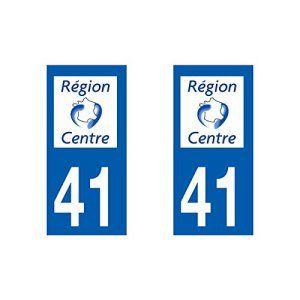 Autocollant plaque immatriculation pour Auto Centre département – Centre / 41 Loir et Cher