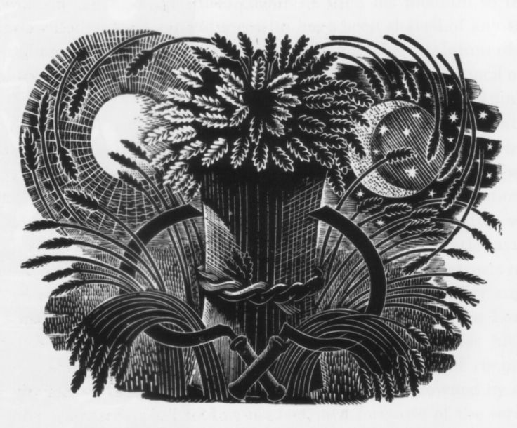Design by Eric Ravilious for the Prospectus of The Cornhill magazine, 1933  (wood engraving)