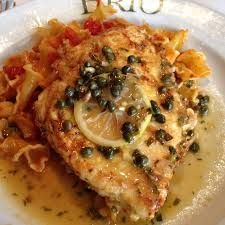 CHICKEN LIMONE  Brio Tuscan Grill Recipe   1 oz olive oil blend  2 pieces of chicken (pounded)  flour  2 eggs for egg wash  2 slices of...