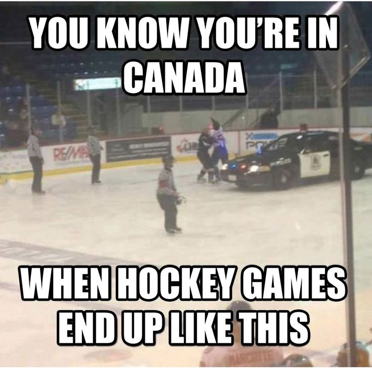 Canadian hockey...