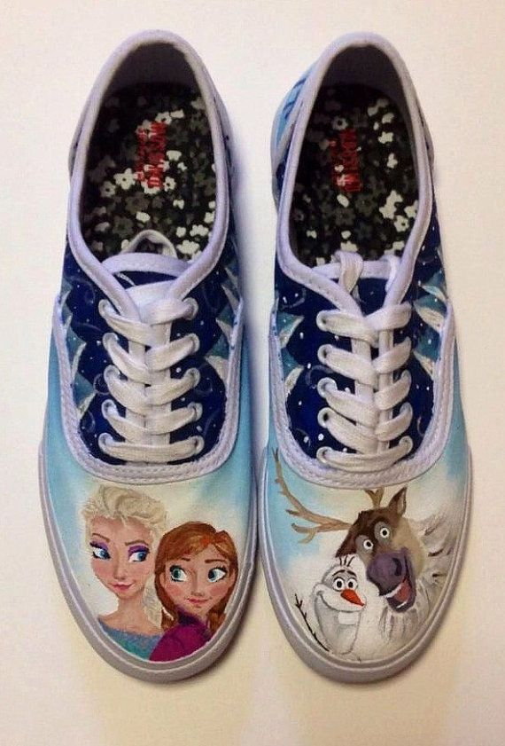 Hand Painted Frozen Shoes Custom Disney by NataliesCustomShoes
