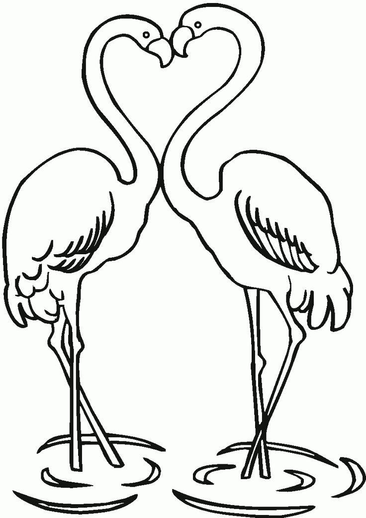 Ausmalbilder Flamingo Kostenlos Malvorlagen Windowcolor ...