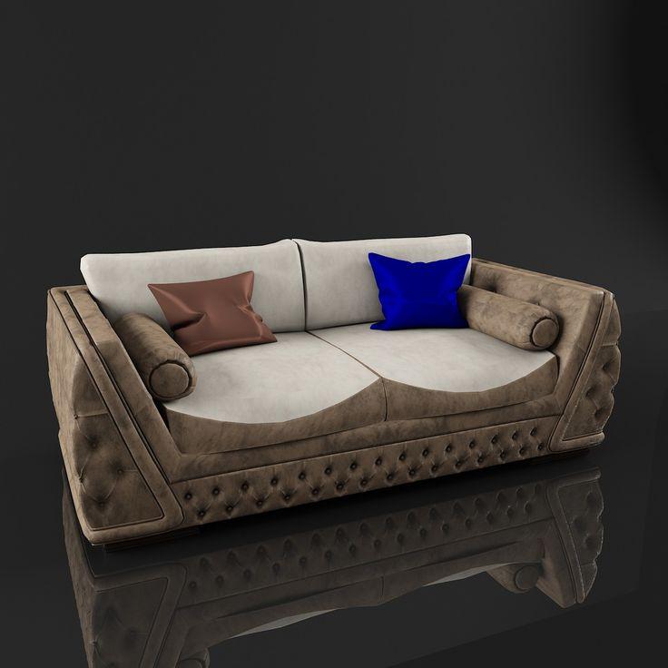 2 Seat Sofa Giada Zanaboni 3D Model   3D Model