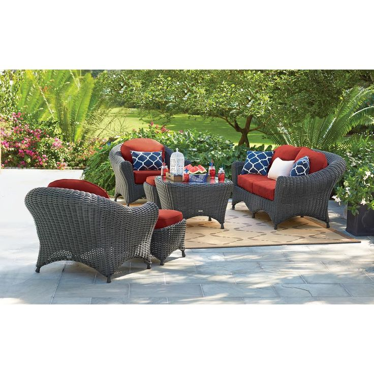 Martha Stewart Living Lake Adela Charcoal 6-Piece All ... on Martha Stewart 6 Piece Patio Set id=45295