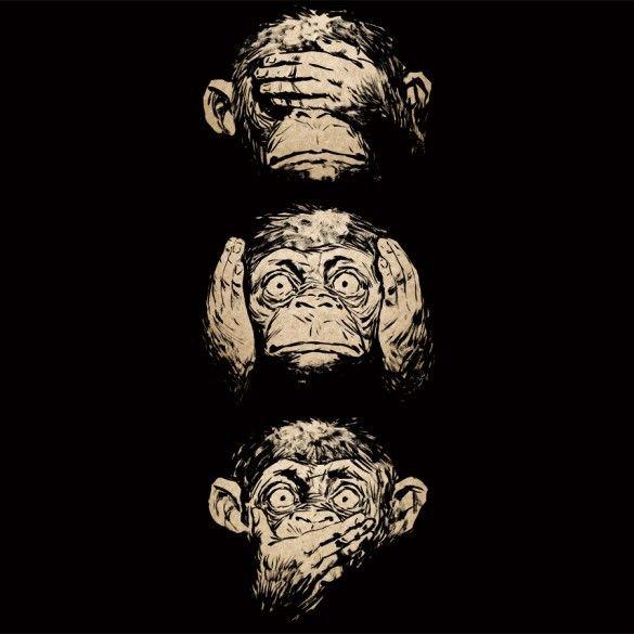 Daily Tee: 3 wise monkeys custom t-shirt design