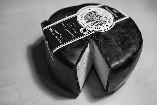 'Little Black Bomber' - for a cheese board?  Extra mature cheddar from Snowdonia