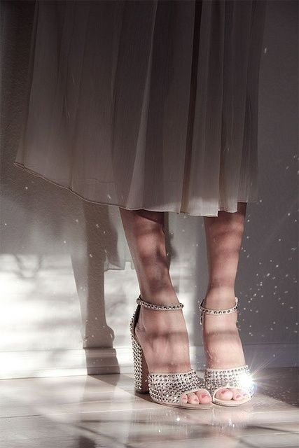 Pretty dress and sparkling shoes