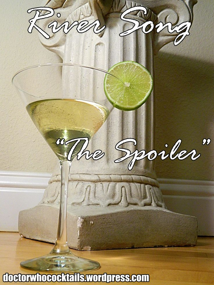 """River Song, """"The Spoiler"""" // Doctor Who Cocktails"""