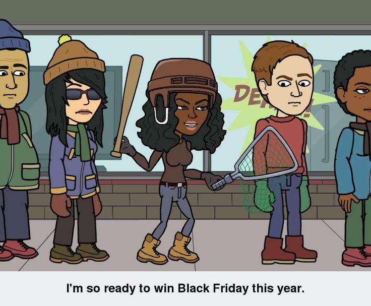 #bitstrips, #funny, #humor, #selfie, #meme, #black #friday