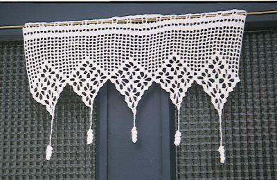 1000 id es sur le th me rideaux en crochet sur pinterest - Coudre des rideaux de cuisine ...