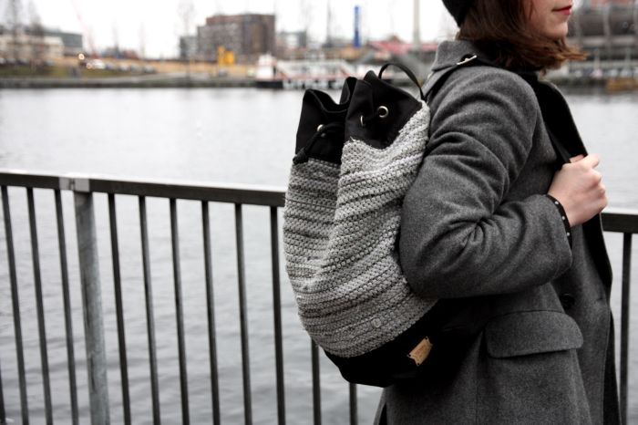 Trelooks - Street style from Tampere, Finland  www.trelooks.blogspot.com    Bag is made of recycled fabrics on Finland. Bag: Down to size http://downtosize.net/    Keywords: accessories, bag, recycling, handmade