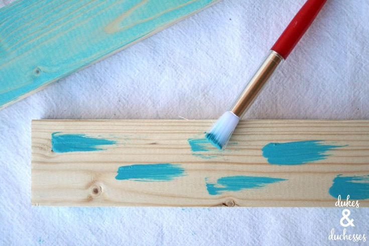 How to Create a Color Washed Effect on Wood - Dukes and Duchesses