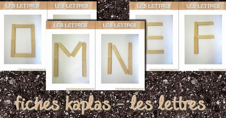 Voici des fiches modèles format A4 à couper et plastifier pour que les enfants puissent reproduire des lettres avec les kaplas :). ...