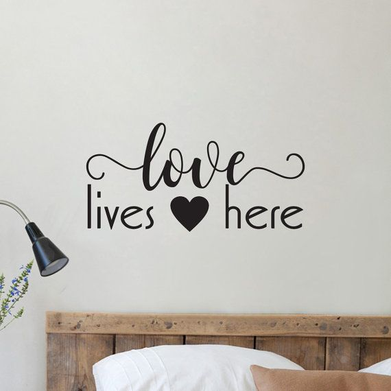 Love Lives Here Wall Decal Home Decor Quote Wall by wallineed