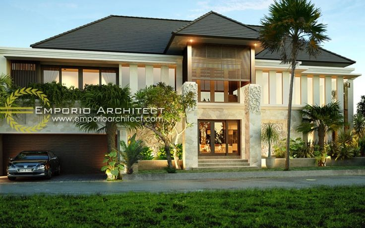 Balinese Tropical Modern House Architecture Pinterest