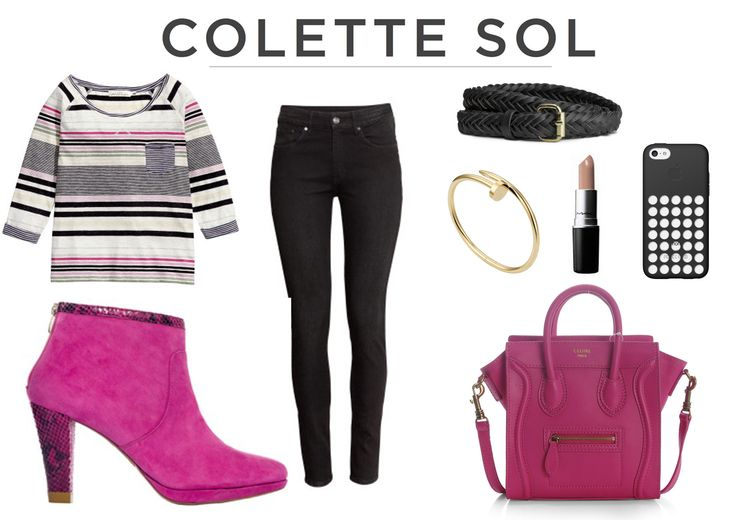 Fuchsia Suede Ankle Boot Colette Sol - How to Wear