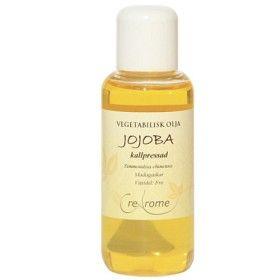 Jojobaolja kallpressad i ansikten som sminkbortagning och för att reglera talgproduktionen.