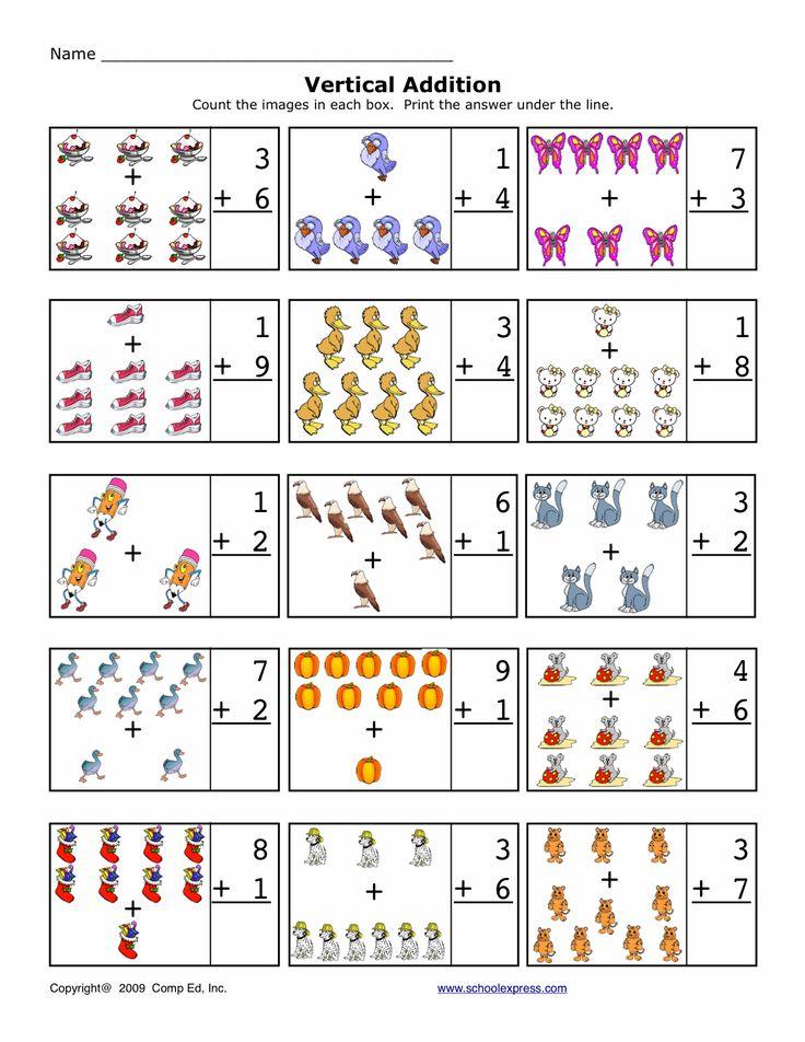 free worksheets math addition sums 1 10 vertical. Black Bedroom Furniture Sets. Home Design Ideas