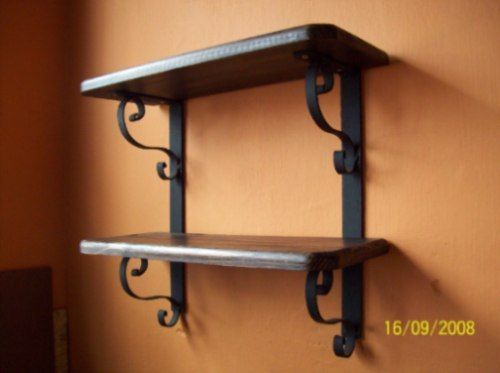 Repisa madera y hierro estantes pinterest for Muebles de la casa