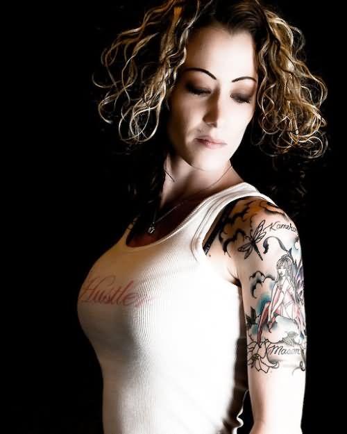 Afbeeldingsresultaat voor tattoo half sleeve girl