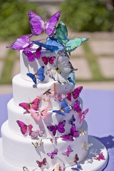 A butterfly themed bridal shower