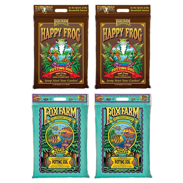 Foxfarm Happy Frog Nutrient And Ocean Forest Garden Potting Soil Mix 2 Pack In 2021 Potting Soil Soil Plant Structure
