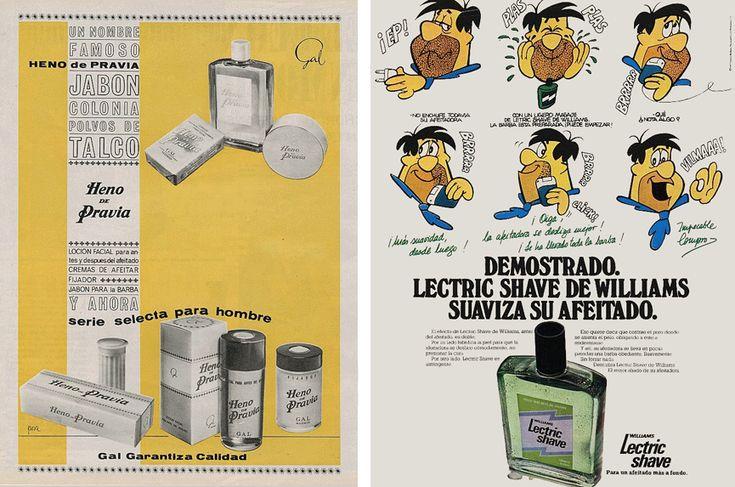 Jabón Heno de Pravia de 1963 y Loción de afeitado Lectric Shave de Williams, 1977
