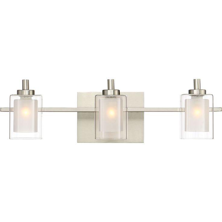 Quoizel KLT8603BNLED Kolt Modern Brushed Nickel LED 3-Light Vanity Light Fixture - QUO-KLT8603BNLED