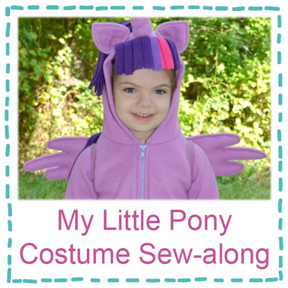 My Little Pony Costumes sew-along from sugartartcrafts.com. Sew along links at the bottom of the post. Aurora wants to be Princess Twilight Sparkle. I think this type of costume is far more work-able than a full pony.