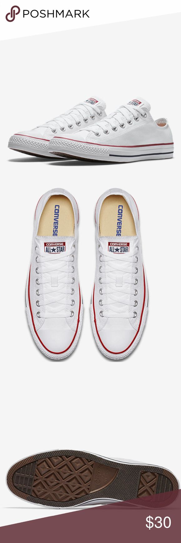 White Chuck Taylor Low Top Converse White Lowtop Size 6 Converse Converse Shoes Sneakers
