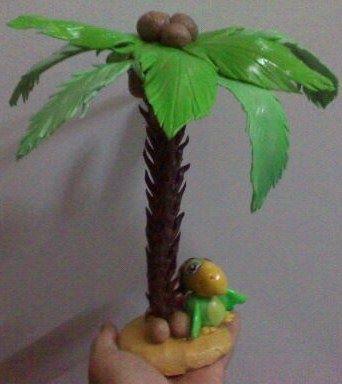 Skully y palmera realizados en porcelana fria jake y los - Como hacer una palmera artificial ...