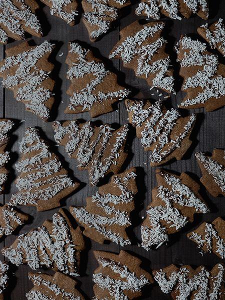 Chocolate shortbread trees