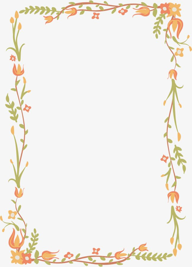Exquisite Fl Border Vector Png Flower Vine Of Rattan And With Transpa Background For Free Fonts