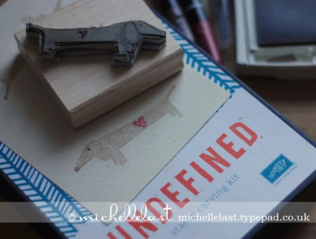 Dachshund, undefined, stampin up, michelle last: Hands Carvings, Cards Ideas, Undefin Stamps, Stamps Carvings, Dachshund Stamps, Cardmaking Ideas, Inspiration Stampin Up, Carvings Kits, Custom Stamps