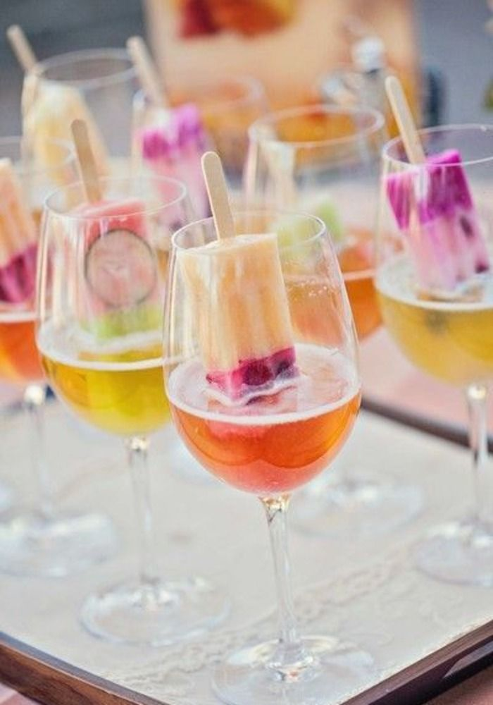 Delight your guests with popsicle cocktails like these colourful creations from Four Seasons Hotel Amman.