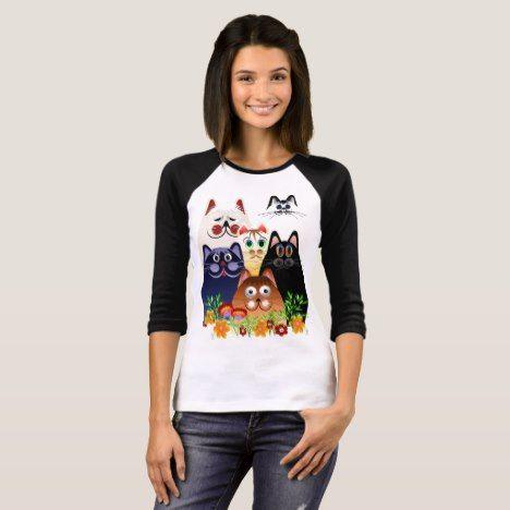 GARDEN CLOWDER of CATS T-Shirt #cat #cats #kitten #catproducts