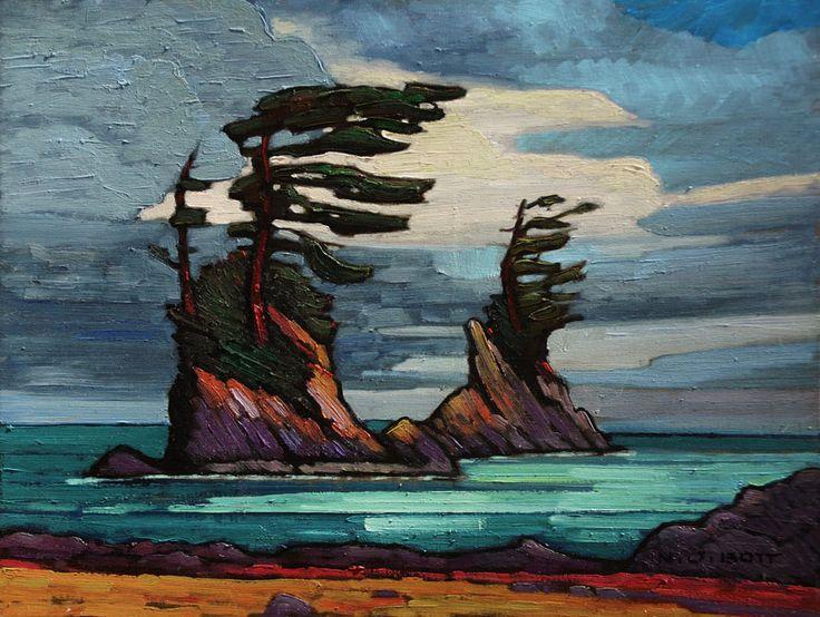 Nicholas Bott OIL Sea Stacks on B.C. Coast