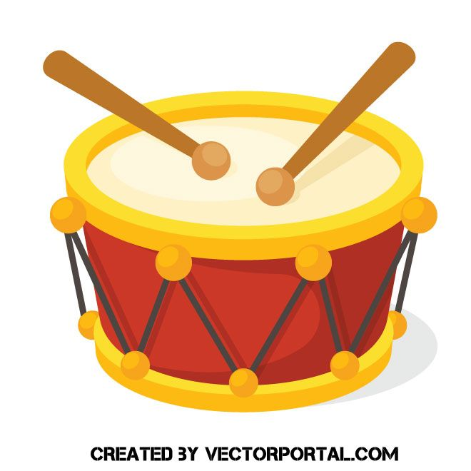 Drum Icon Vector Image Music Themed Free Online Coloring Drums
