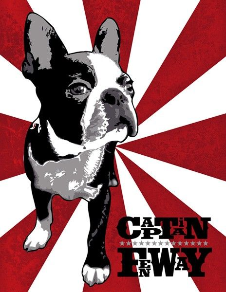 BOSTON TERRIER Pop Art style original Pet Portrait by throwmeabone