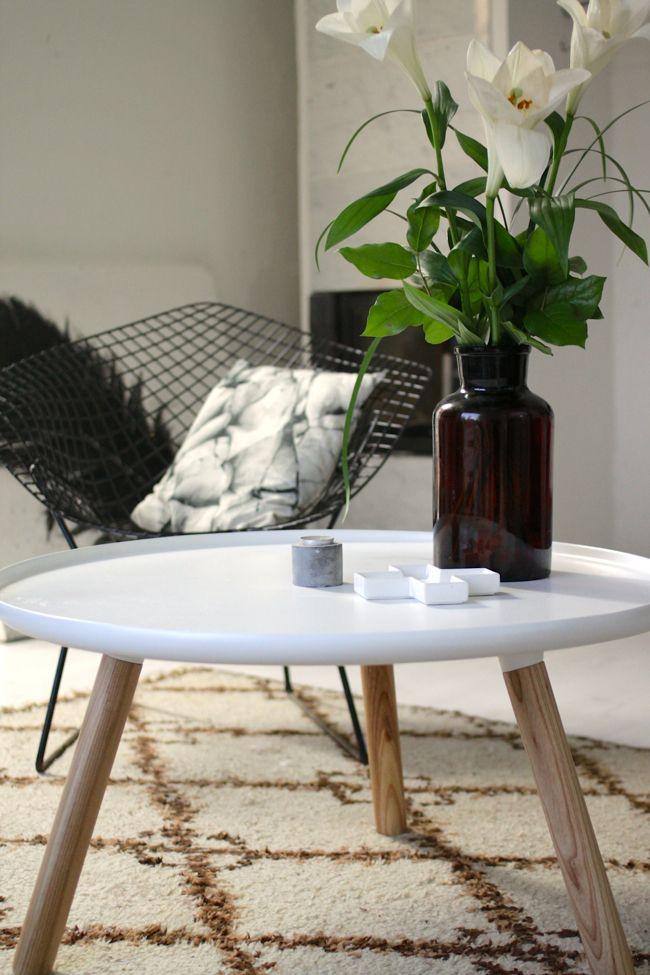 Normann Copenhagen Tablo Table Modern Marble Fireplace White Lilies Vintage Black Diamond Chair