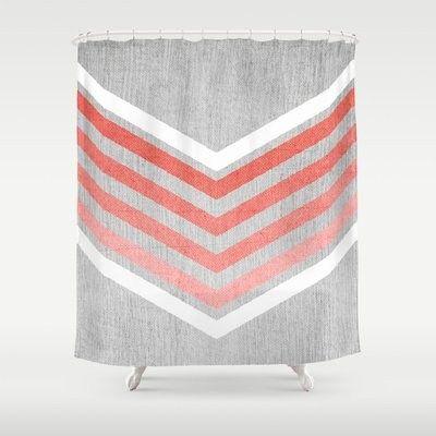 Curtains Ideas coral chevron shower curtain : 1000+ images about Coral Chevron Shower Curtain on Pinterest