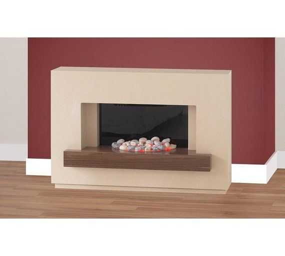 Buy Adam Sambro 2kW Electric Fireplace Suite - Stone & Walnut at Argos.co.uk, visit Argos.co.uk to shop online for Fires, Fireplaces and fires, Home improvements, Home and garden
